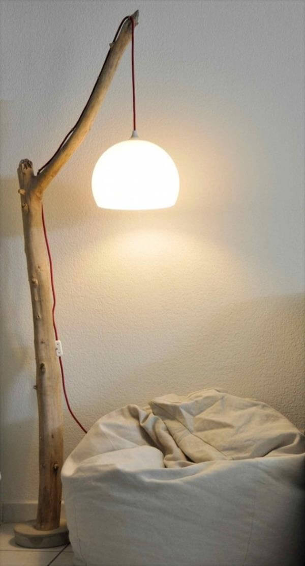 Diy Lamp  6 DIY Tree lamp Ideas