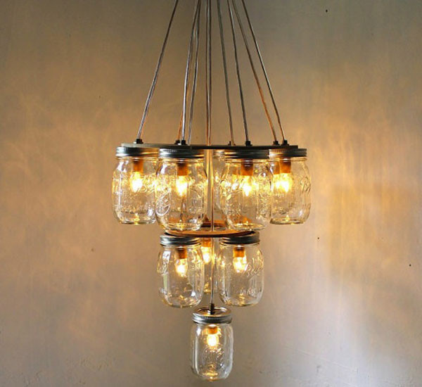 Diy Lamp  DIY Light Fixtures Ideas From Recycled Materials