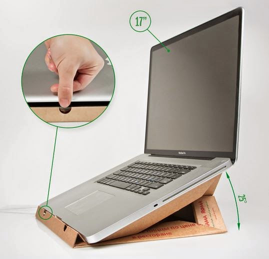 Diy Laptop Stand  DIY Laptop Stand from a Pizza Box The Idea King