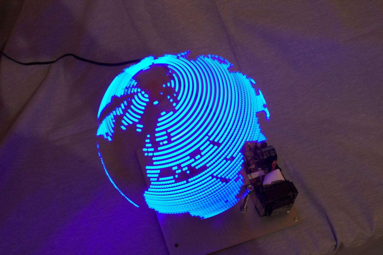 Diy Led  Rotating LED Globe Hacked Gad s – DIY Tech Blog