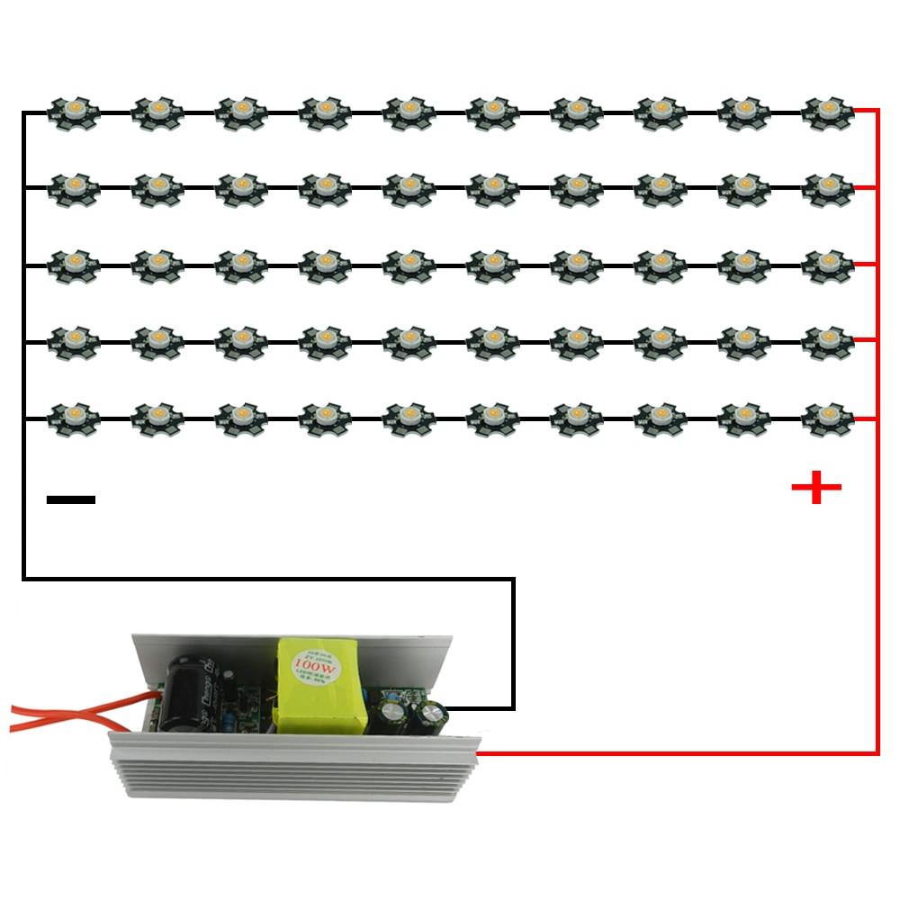Diy Led Grow Light  DIY 100W LED Grow Light Full Spectrum With100W Power