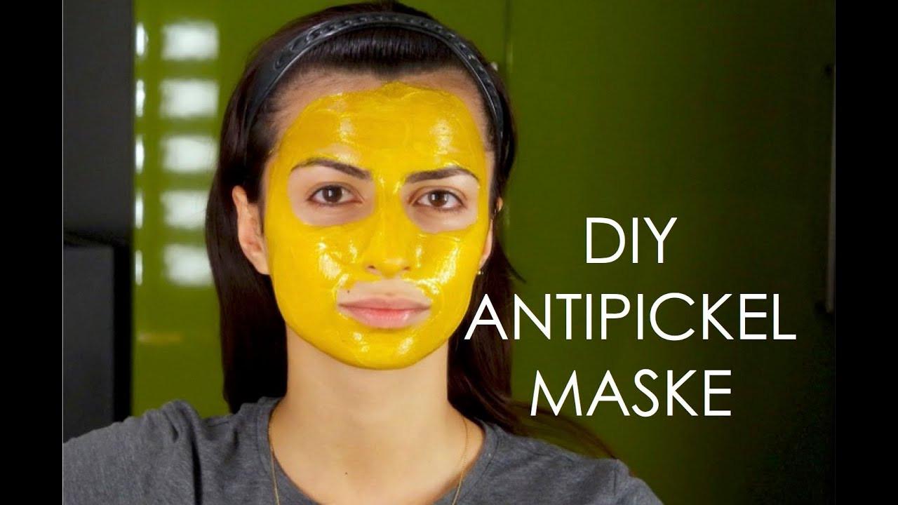 Diy Maske Gegen Mitesser  DIY ANTI PICKEL AKNE MITESSER Maske selber machen