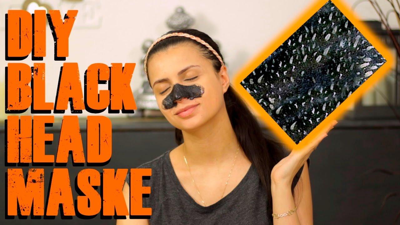 Diy Maske Gegen Mitesser  DIY Blackhead Maske ohne kleber Anti Mitesser maske selber