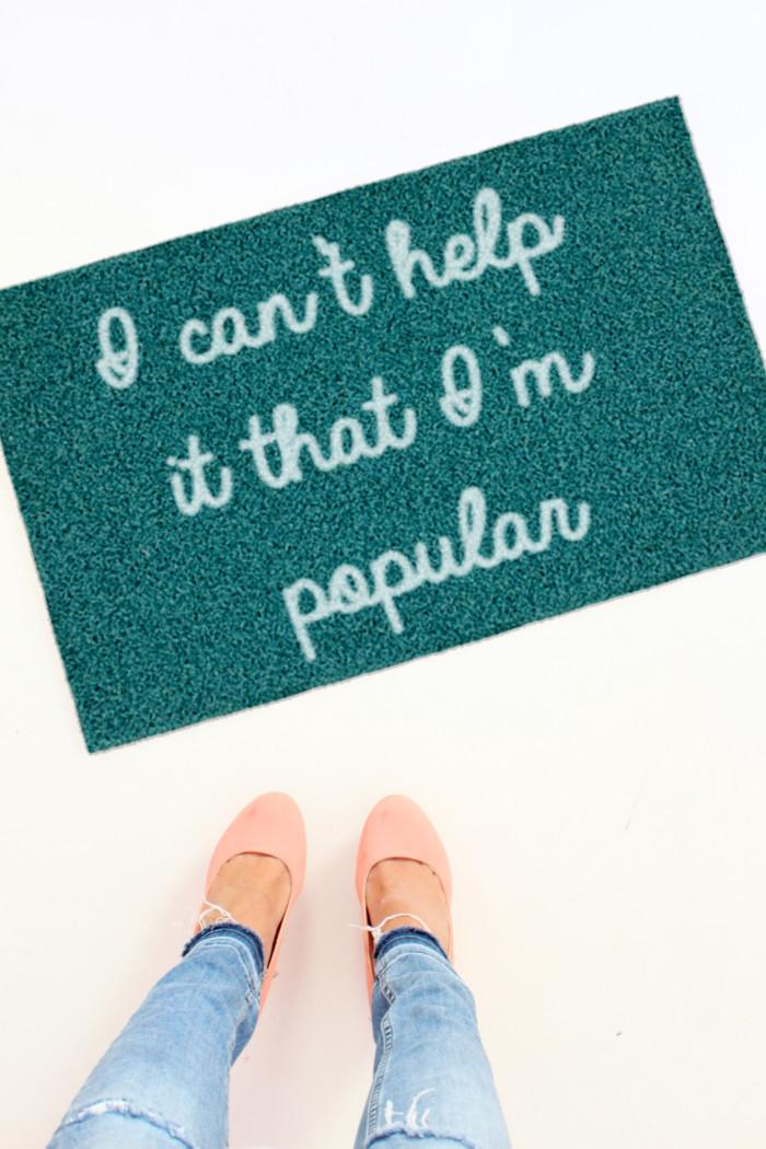 Diy Meaning  DIY Mean Girls Doormats