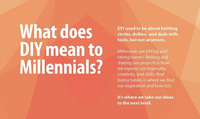 Diy Meaning  What does DIY mean to Millennials infographic Visualistan