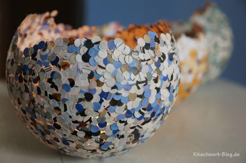 Diy Mit Kindern  DIY Konfettilichter Windlicht kitschwerk blog