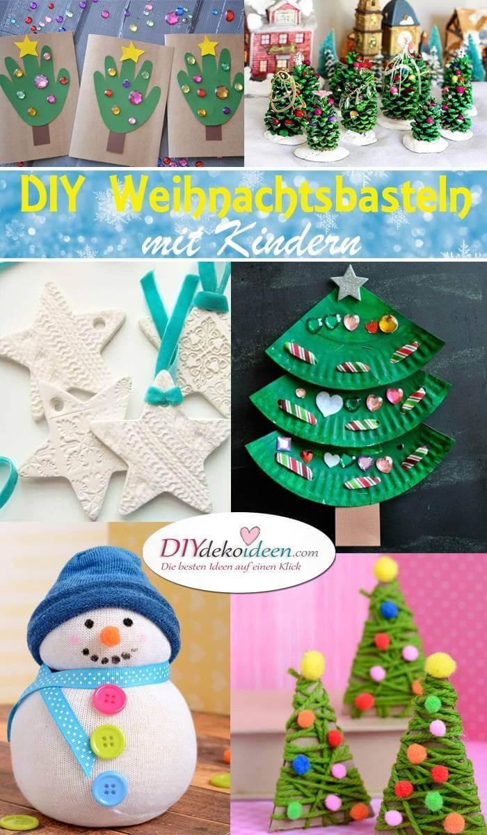 Diy Mit Kindern  Kreative DIY Bastelideen für Weihnachtsbasteln mit Kindern