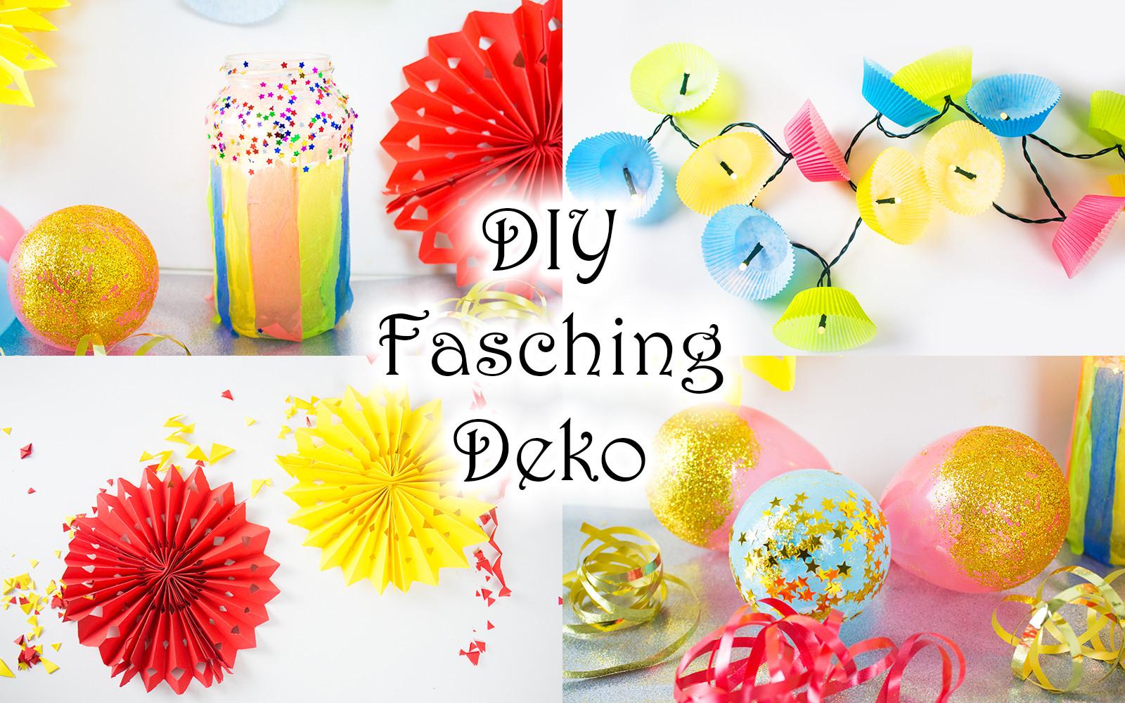 Diy Mit Kindern  DIY Fasching Deko mit Kindern basteln 4 schnelle Ideen