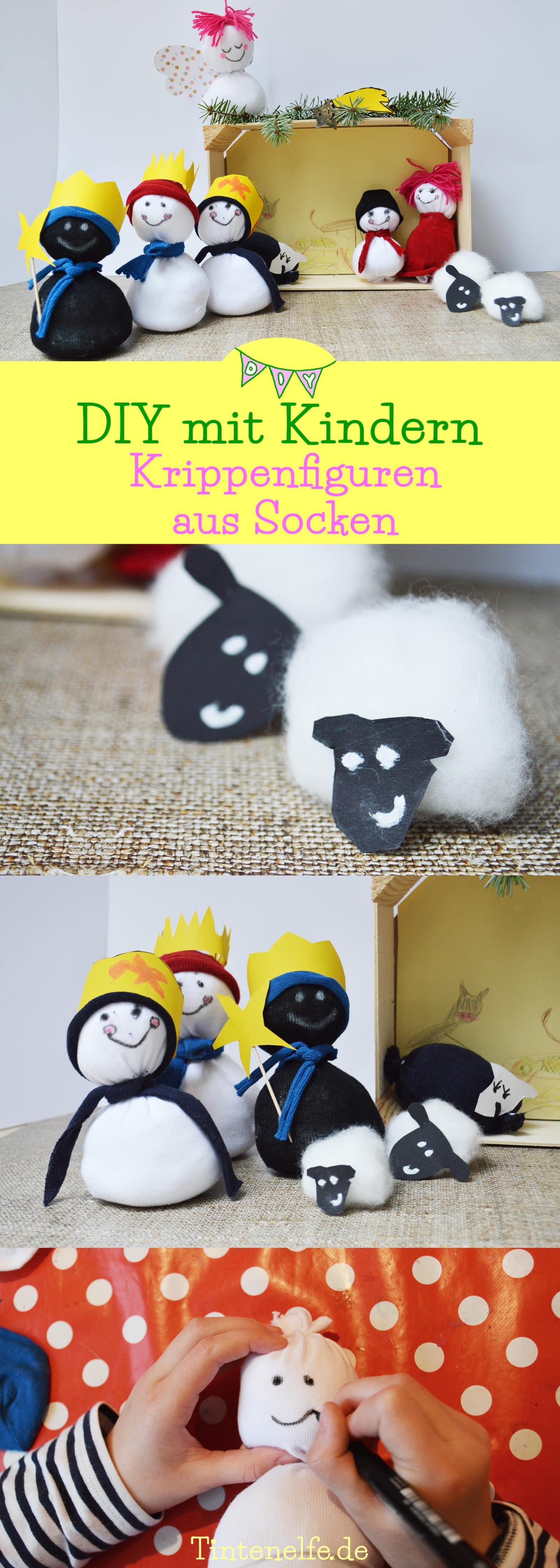 Diy Mit Kindern  DIY mit Kindern Krippenfiguren aus Socken HANDMADE Kultur