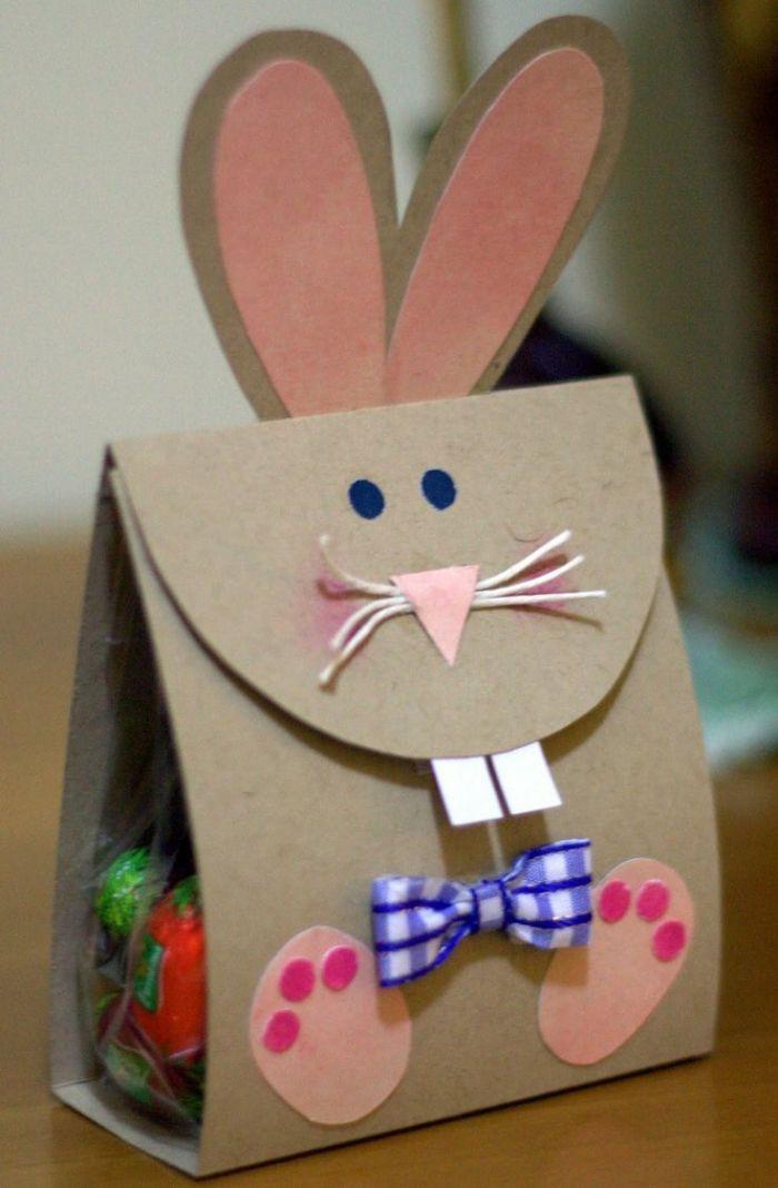 Diy Mit Kindern  österliche Papiertüte Hase mit Applikation DIY Basteln mit