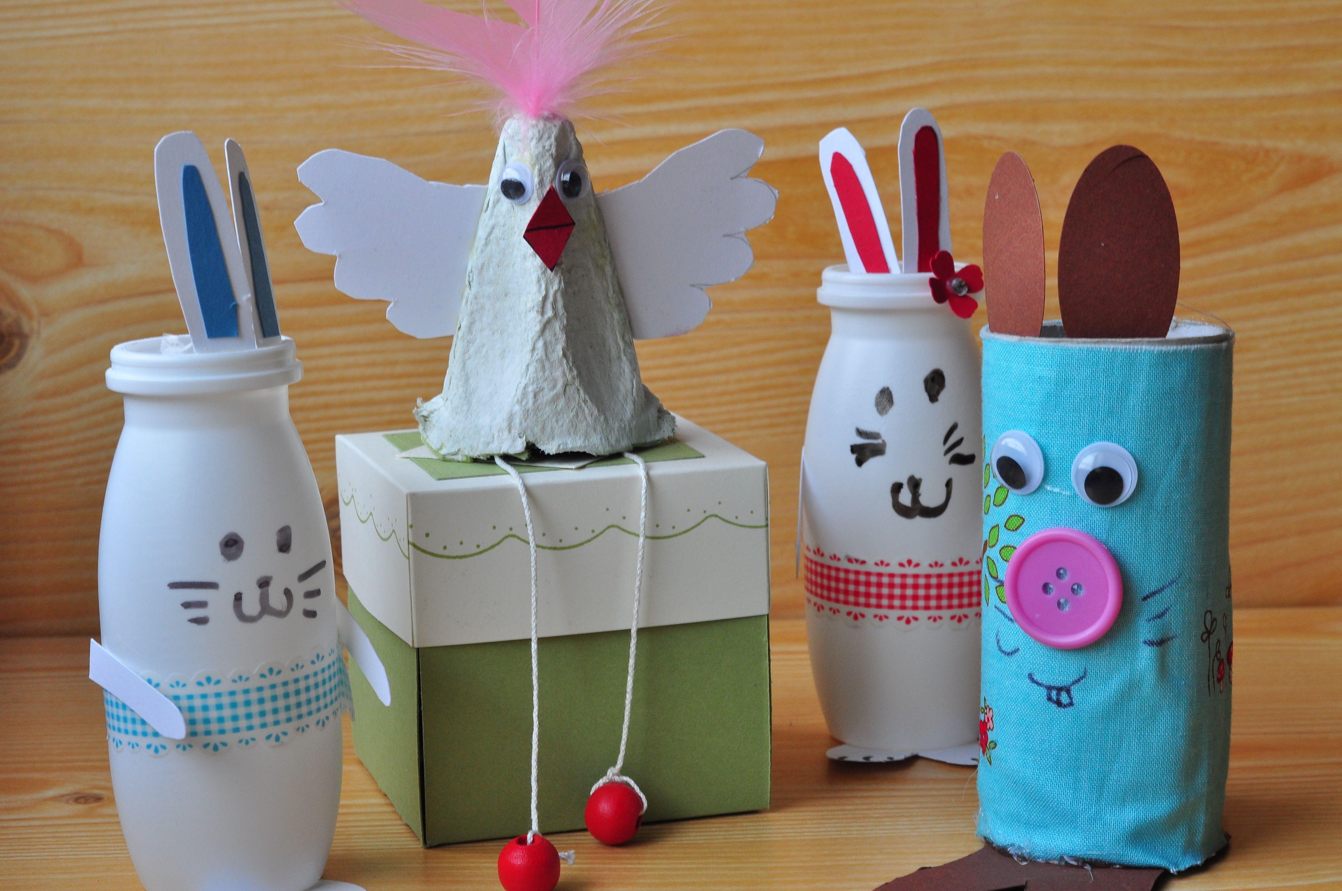 Diy Mit Kindern  Oster Basteln mit Kindern Einfache DIY Ideen mit Hasen