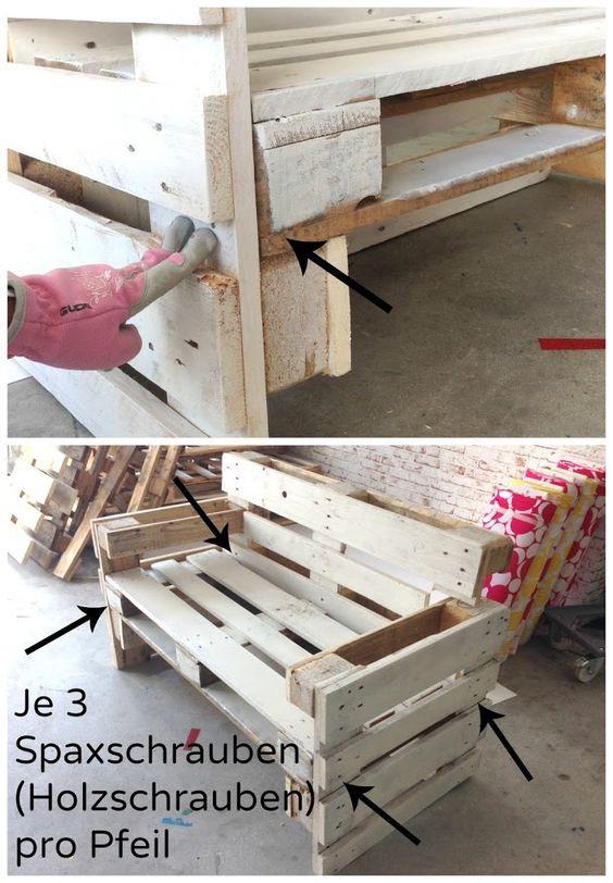 Diy Möbel Anleitung  Möbel aus Paletten bauen Anleitung