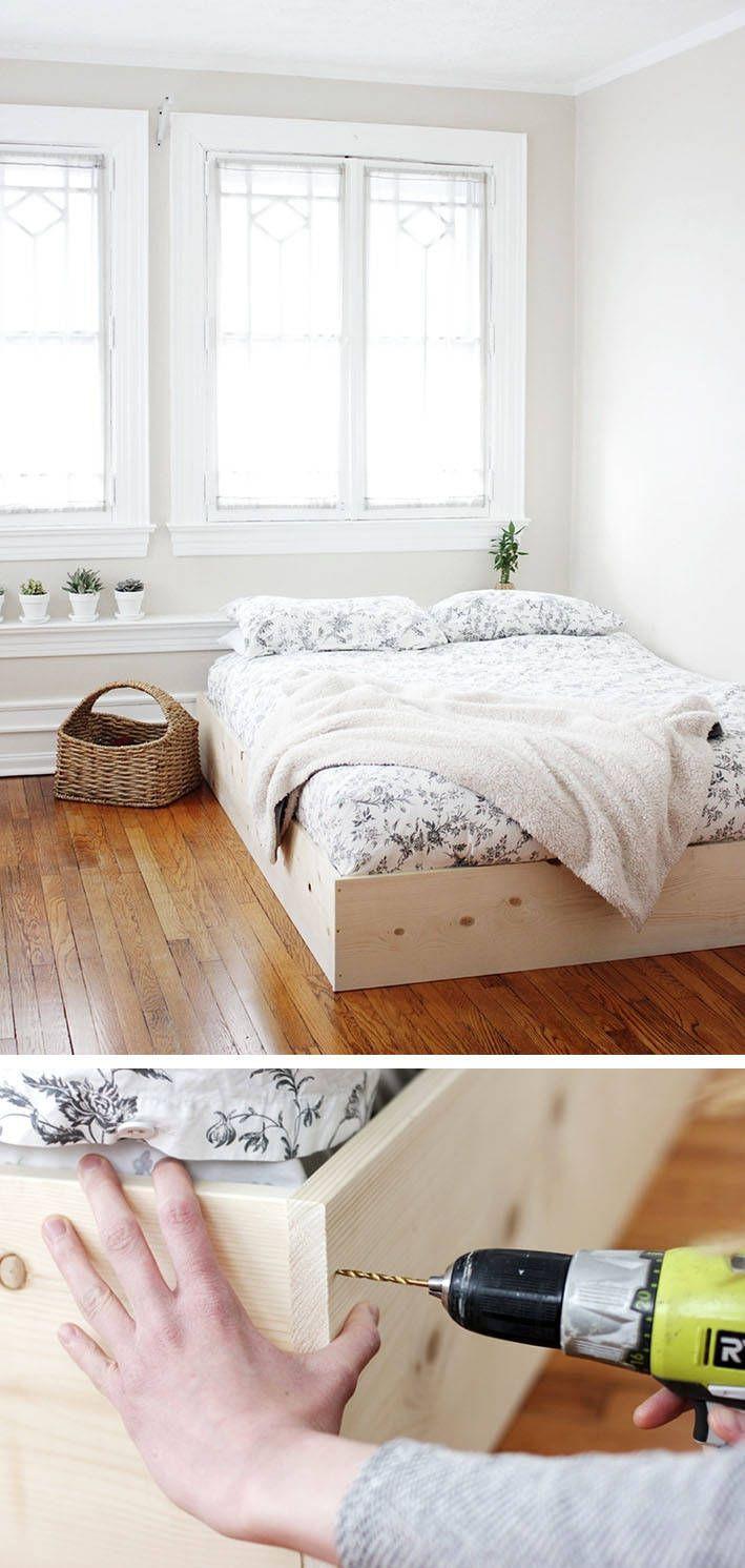 Diy Möbel Anleitung  Bett selber bauen 12 einmalige DIY Bett und Bettrahmen