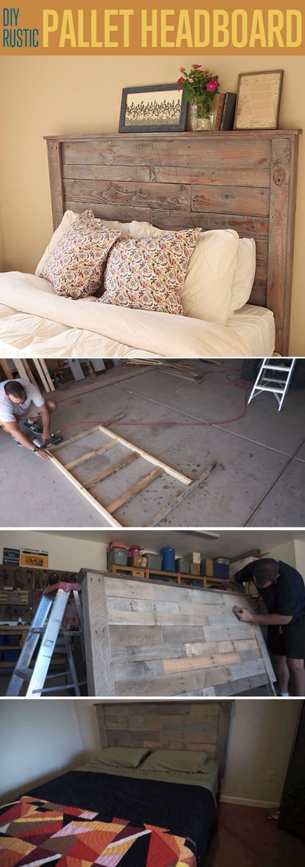 Diy Möbel Anleitung  Kopfteil für Bett aus Europaletten selber bauen DIY