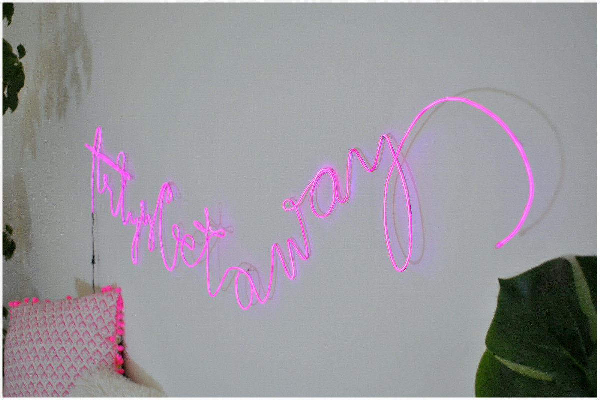 Diy Neon Sign  Arty s Getaway Learn How to Make a Bud Friendly DIY