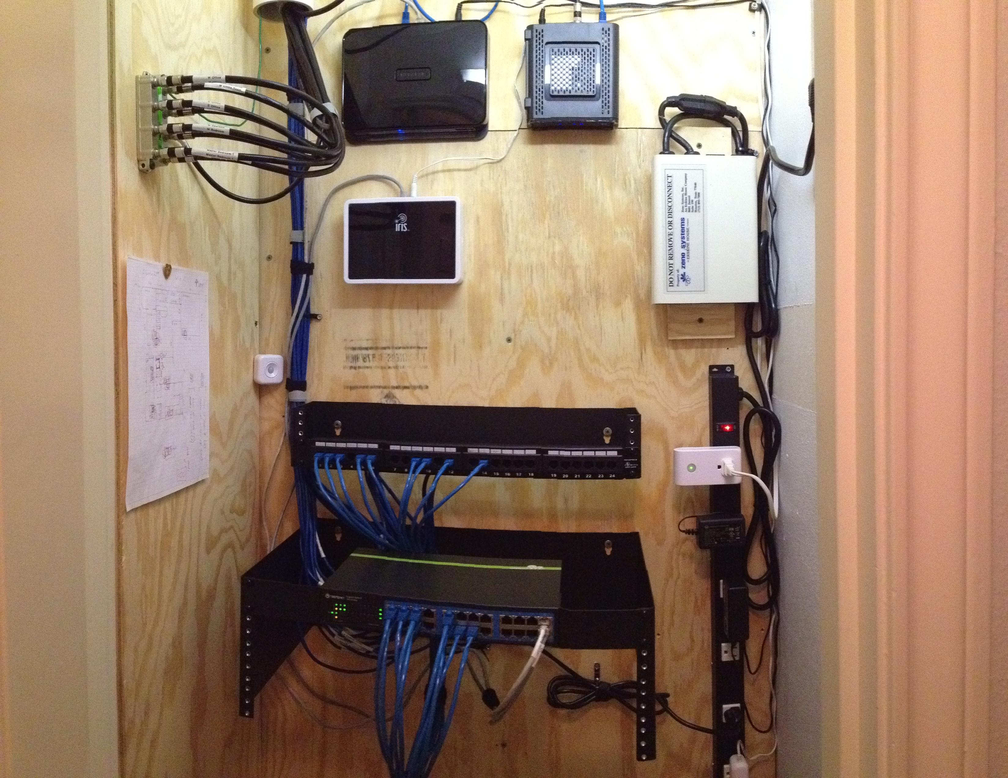 Diy Network  DIY Home Network Closet