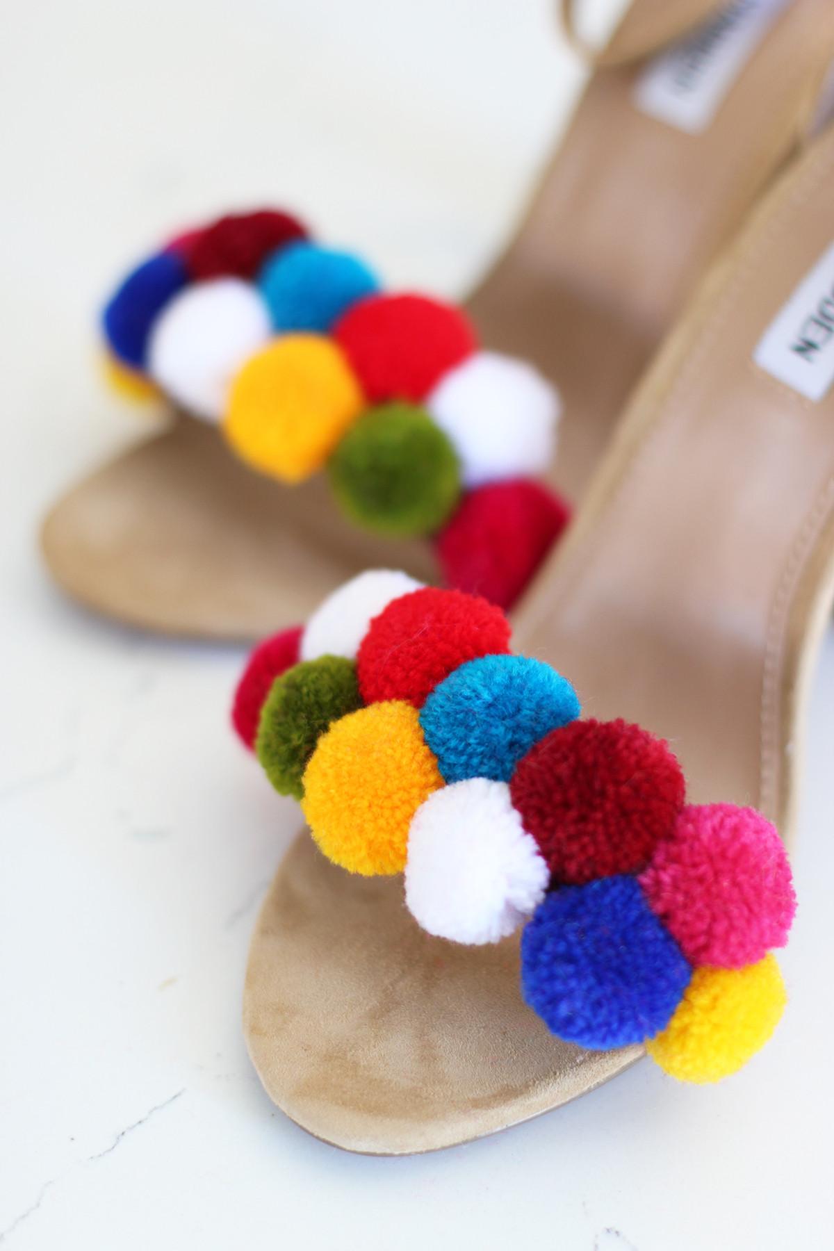 Diy Pom Poms  DIY Pom Pom Shoes – Honestly WTF