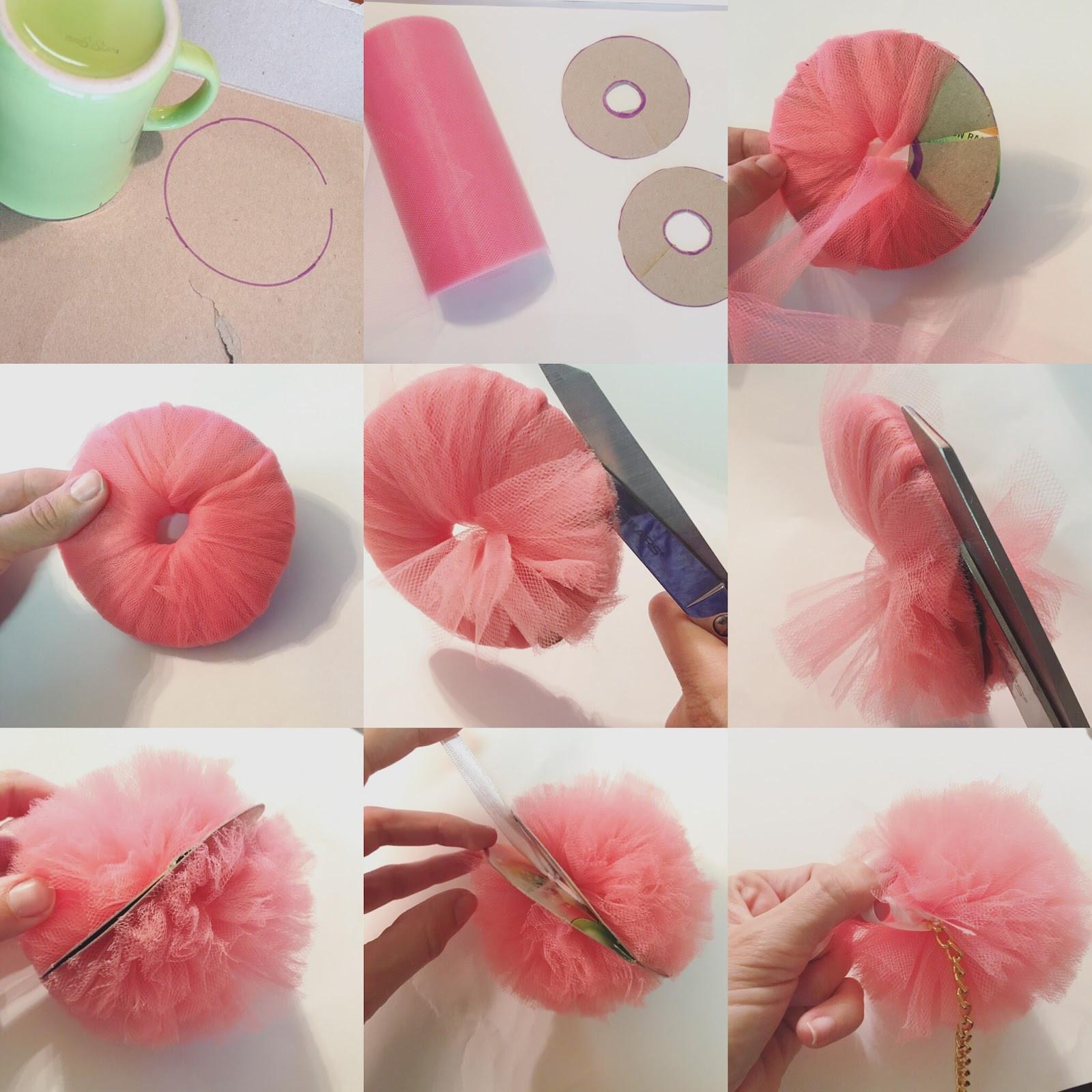 Diy Pom Poms  Trash To Couture DIY Pom Pom key chain