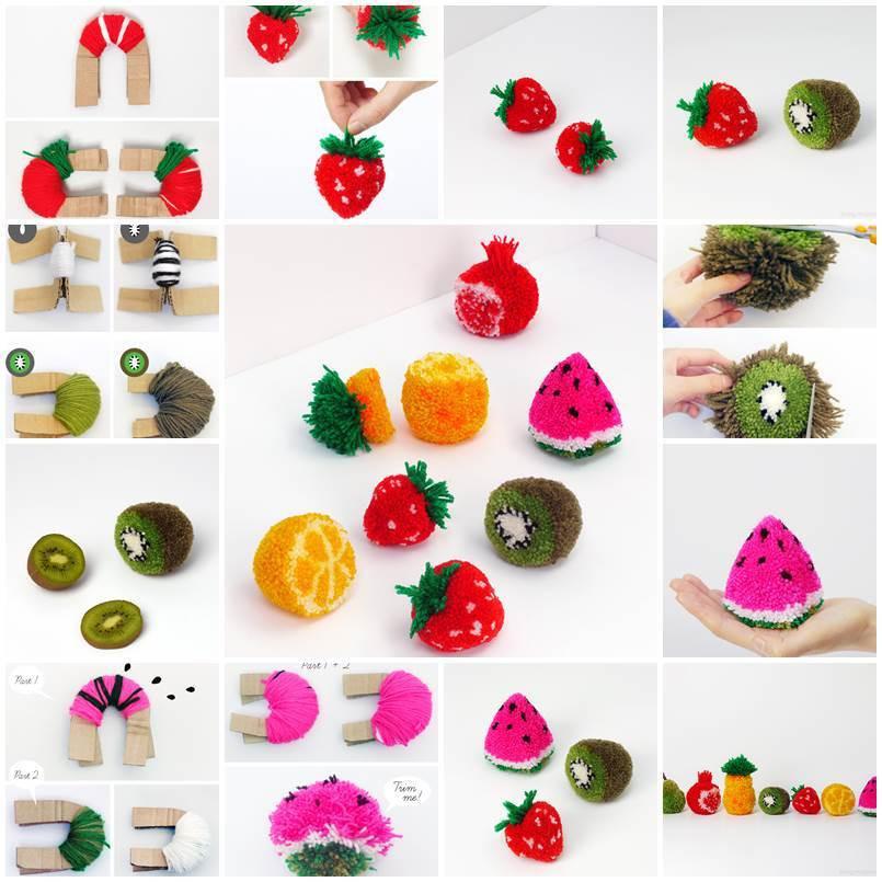 Diy Pom Poms  DIY Fruit Pom Poms