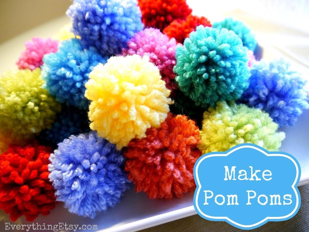 Diy Pom Poms  How to Make a Pom Pom DIY Fun