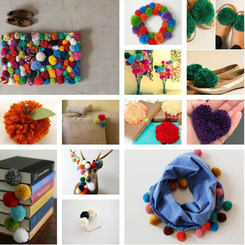 Diy Pom Poms  Colorful DIY Pom Pom Rug and Another Creative Projects