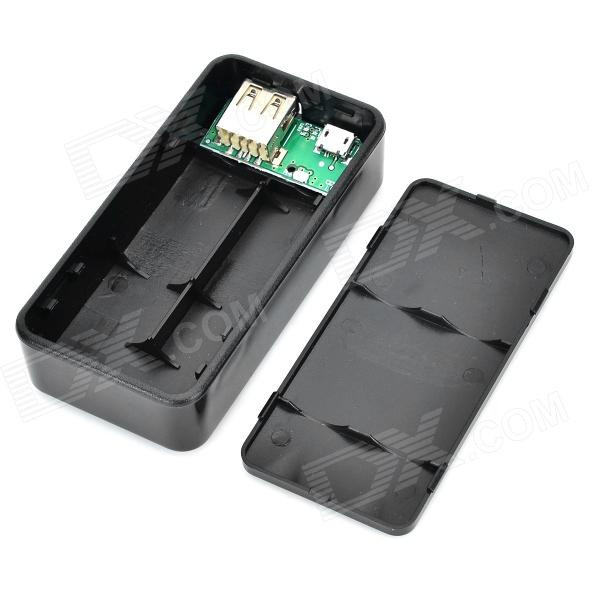 Diy Powerbank  DIY Power Bank Case Circuit Board Set Black Free