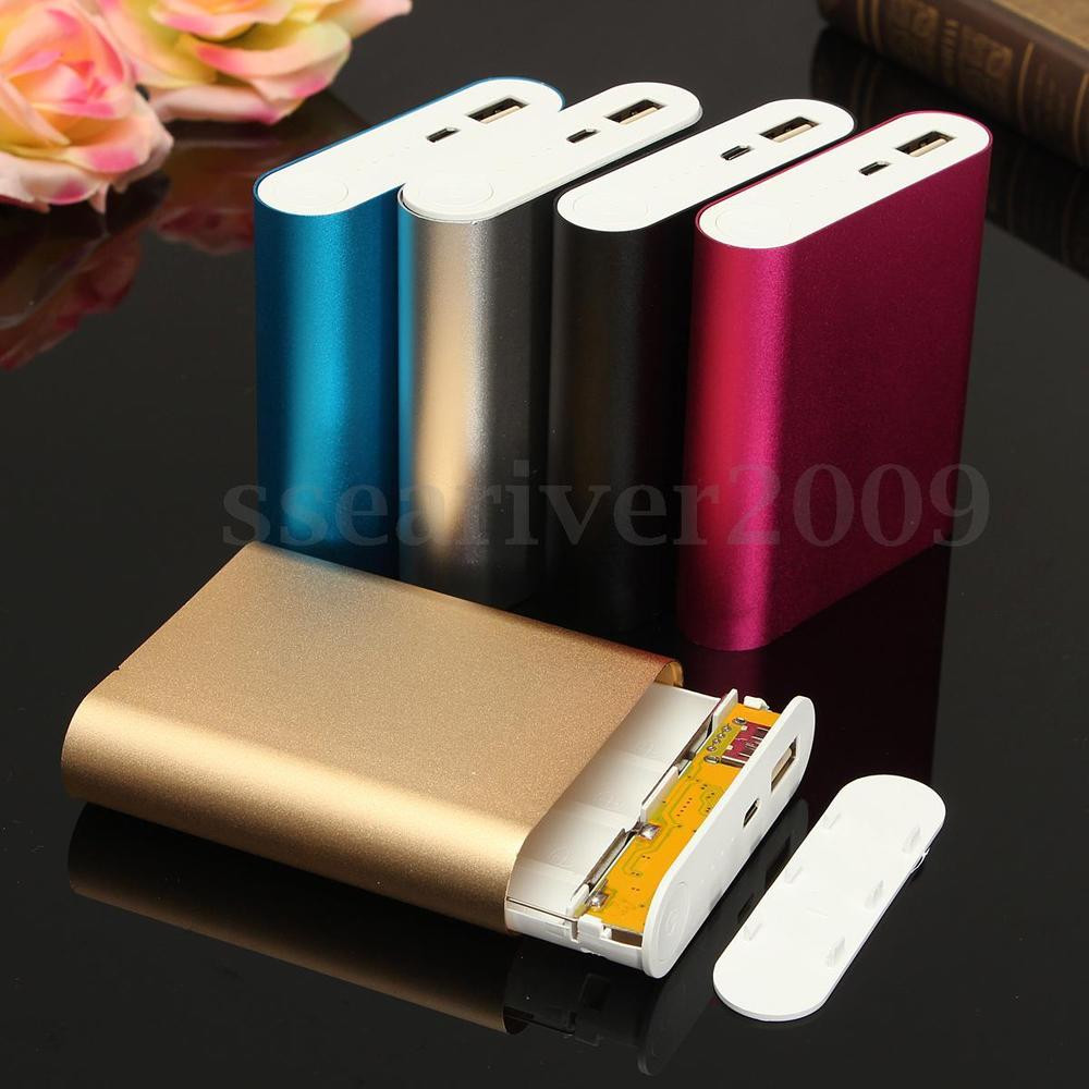 Diy Powerbank  5V 2 1A USB Power Bank Case Kit 4X Battery Charger