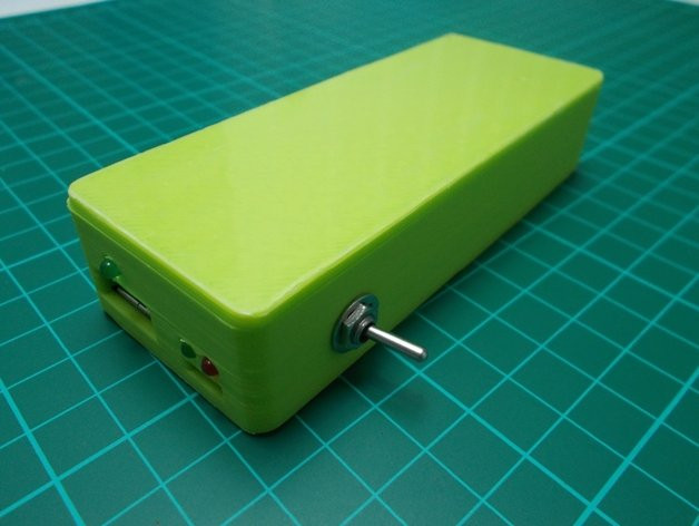Diy Powerbank  DIY Power Bank 2x Cell by feriar Thingiverse