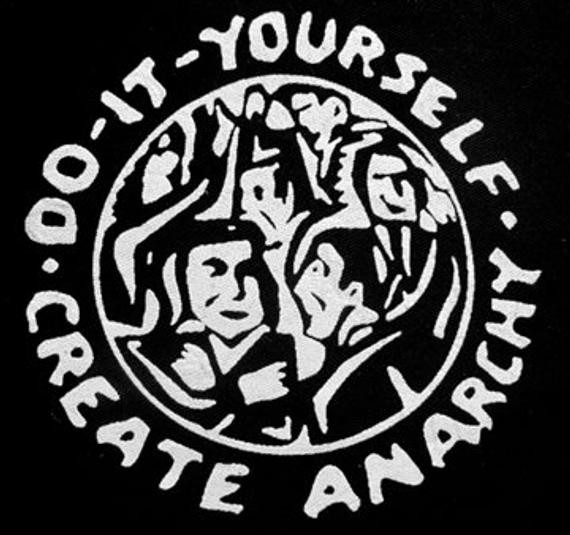 Diy Punk  Do It Yourself Create Anarchy Activist Punk DIY Patch Screen