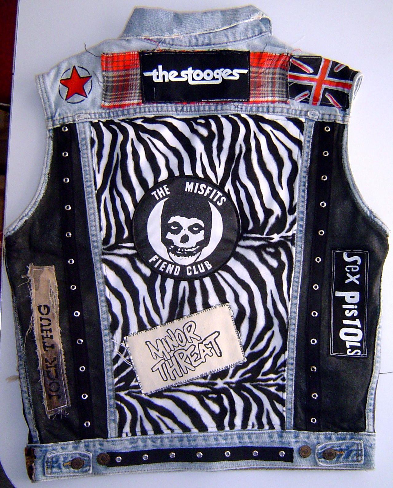 Diy Punk  punk vest DIY PUnk Vest Cut off Vests in 2019