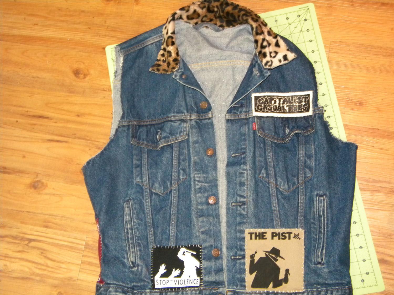 Diy Punk  Punk Studded Vest Battle Jacket DIY Pist