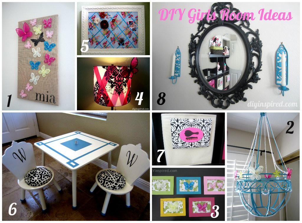 Diy Room  8 DIY Girls Room Ideas DIY Inspired