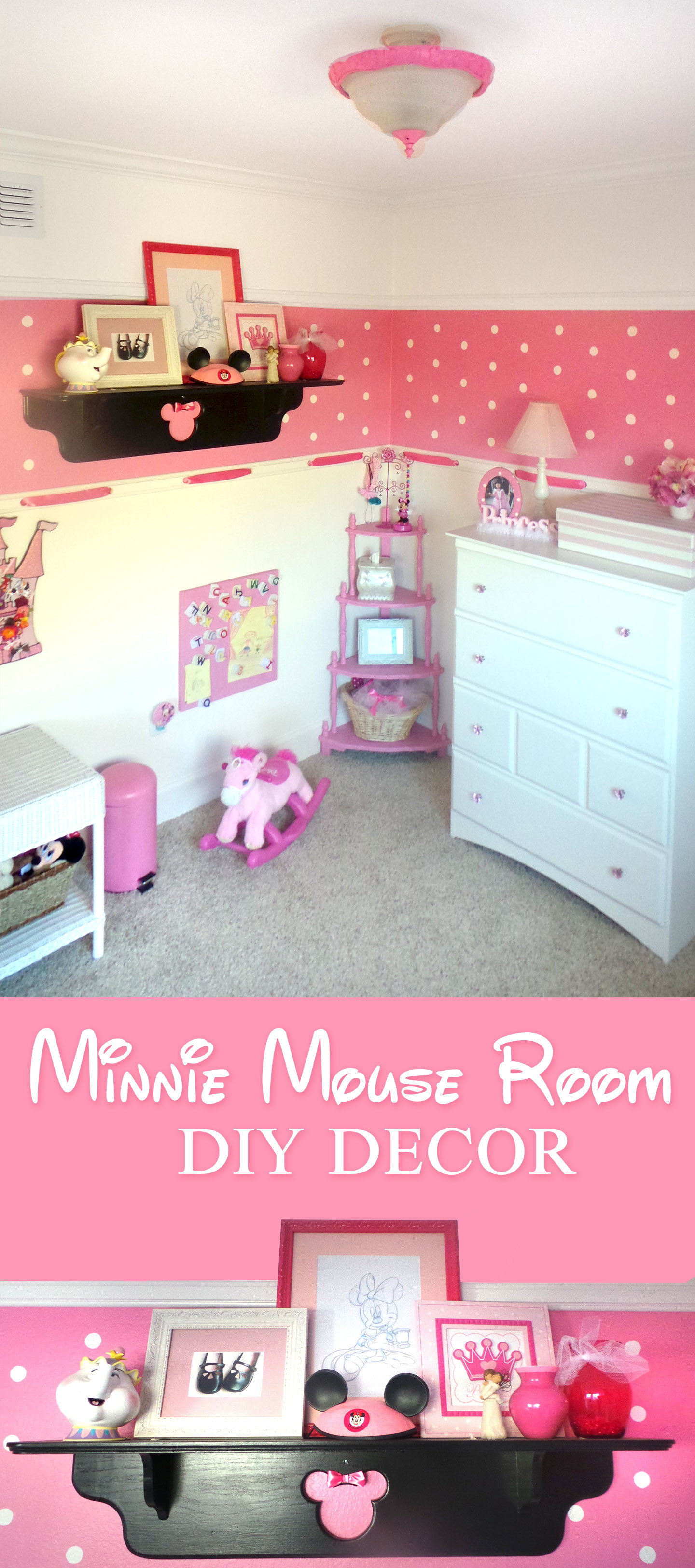 Diy Room  Minnie Mouse Room DIY Decor Highlights Along the Way
