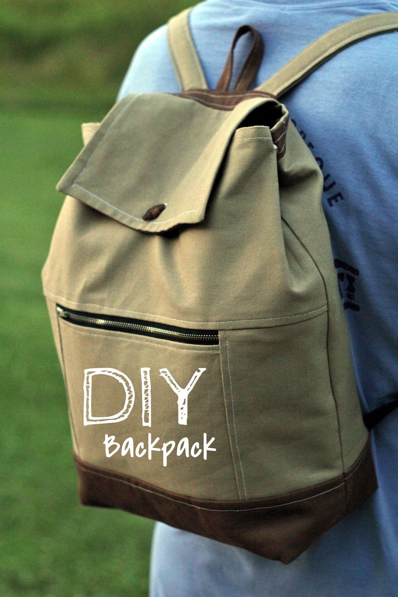 Diy Rucksack  DIY Canvas Backpack by Gingercake
