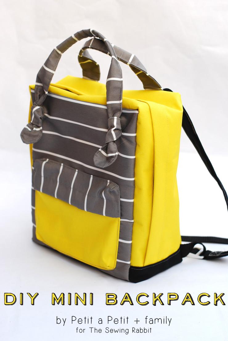 Diy Rucksack  DIY Mini Backpack Sewing Video