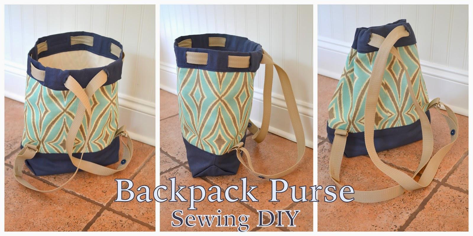 Diy Rucksack  DIY Backpack Purse Sewing A Diaper Bag Purse