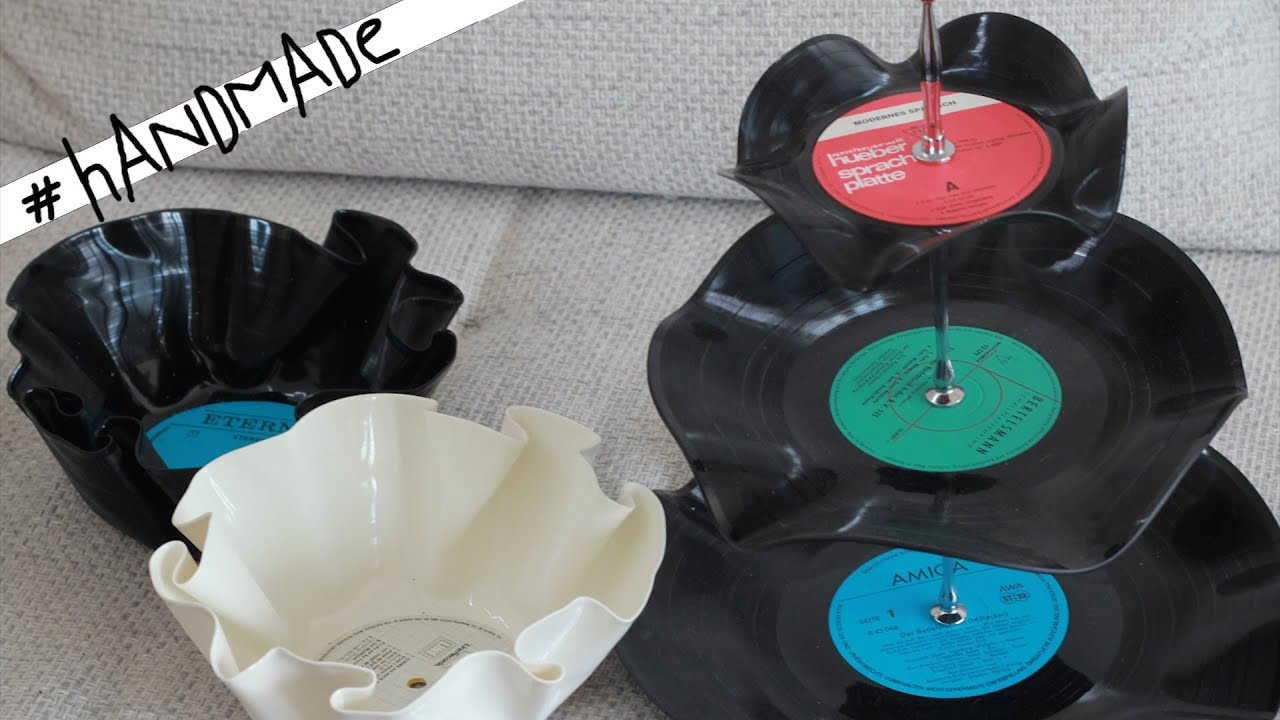Diy Schallplatten  DIY SCHALLPLATTEN Etagere und Schalen handmade