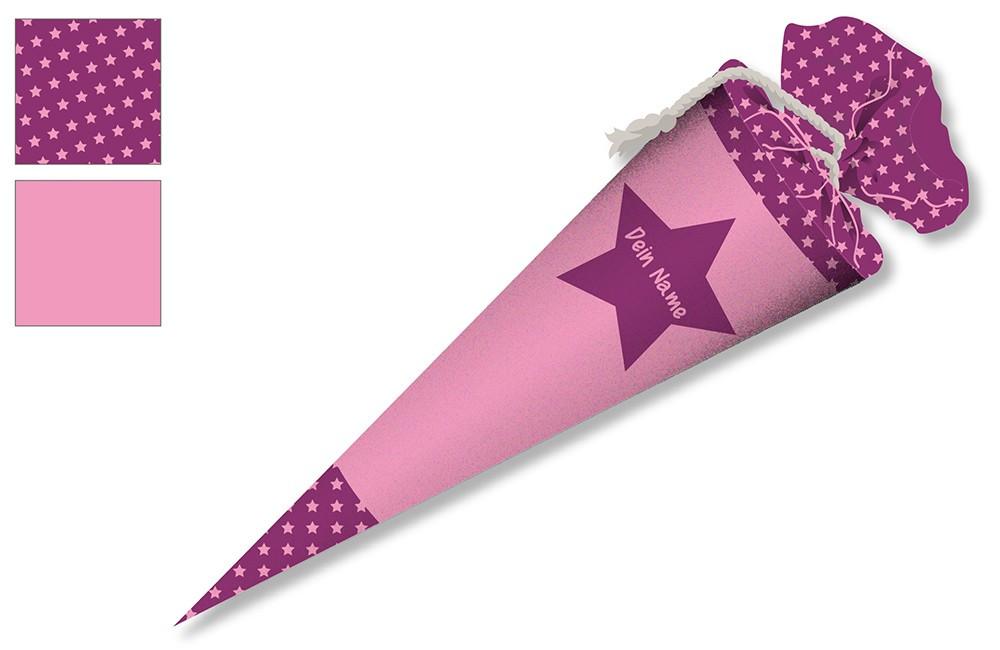 Diy Schultüte  DIY Nähset Schultüte Stern Pink zum selber Nähen