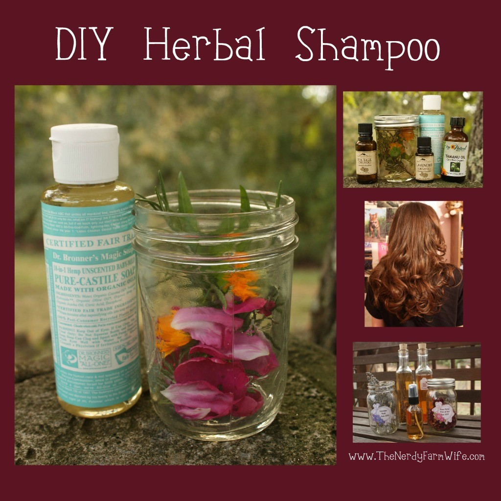 Diy Shampoo  Homemade Herbal Shampoo – The Nerdy Farm Wife