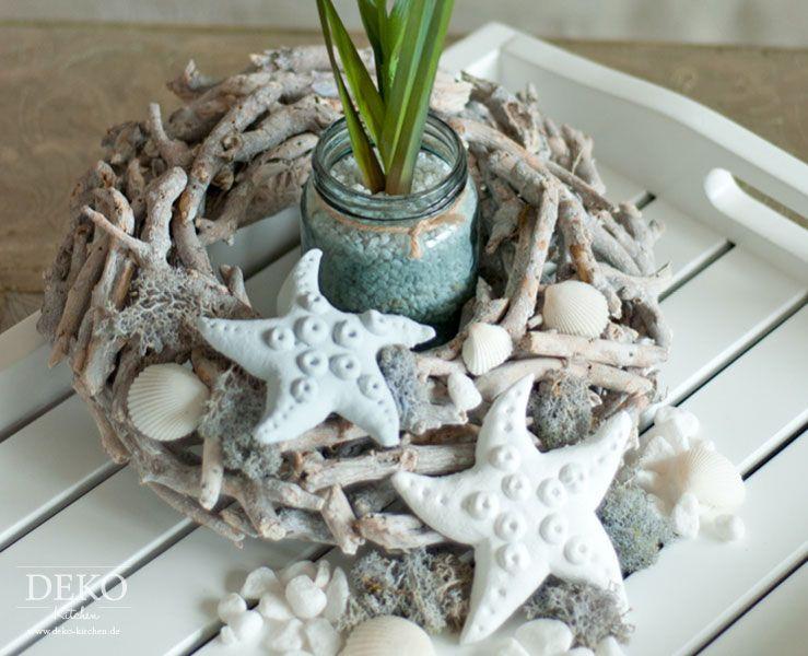 Diy Sommer Deko  DIY Sommer Deko mit Seesternen aus Salzteig Deko Kitchen