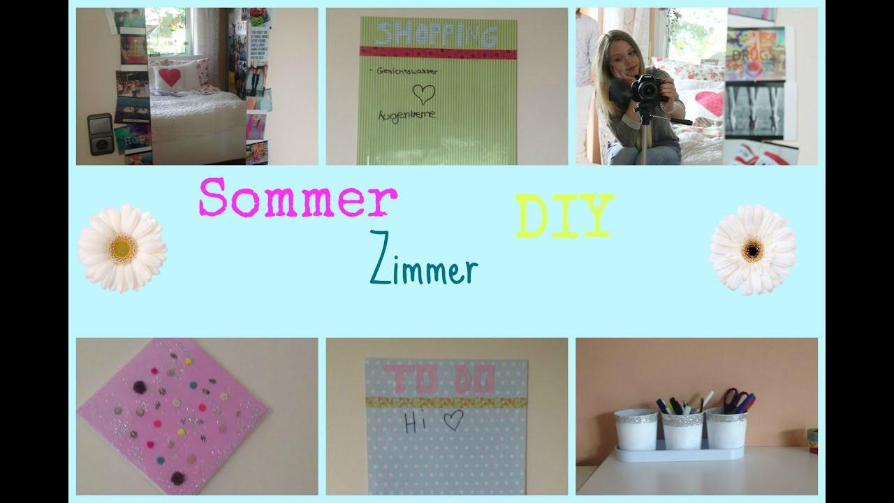 Diy Sommer Deko  DIY Zimmer Deko Ideen Sommer