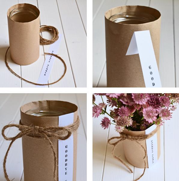 Diy Sommer Deko  Herbstliche Blumendeko aus Würstchenglas DIY Upcycling
