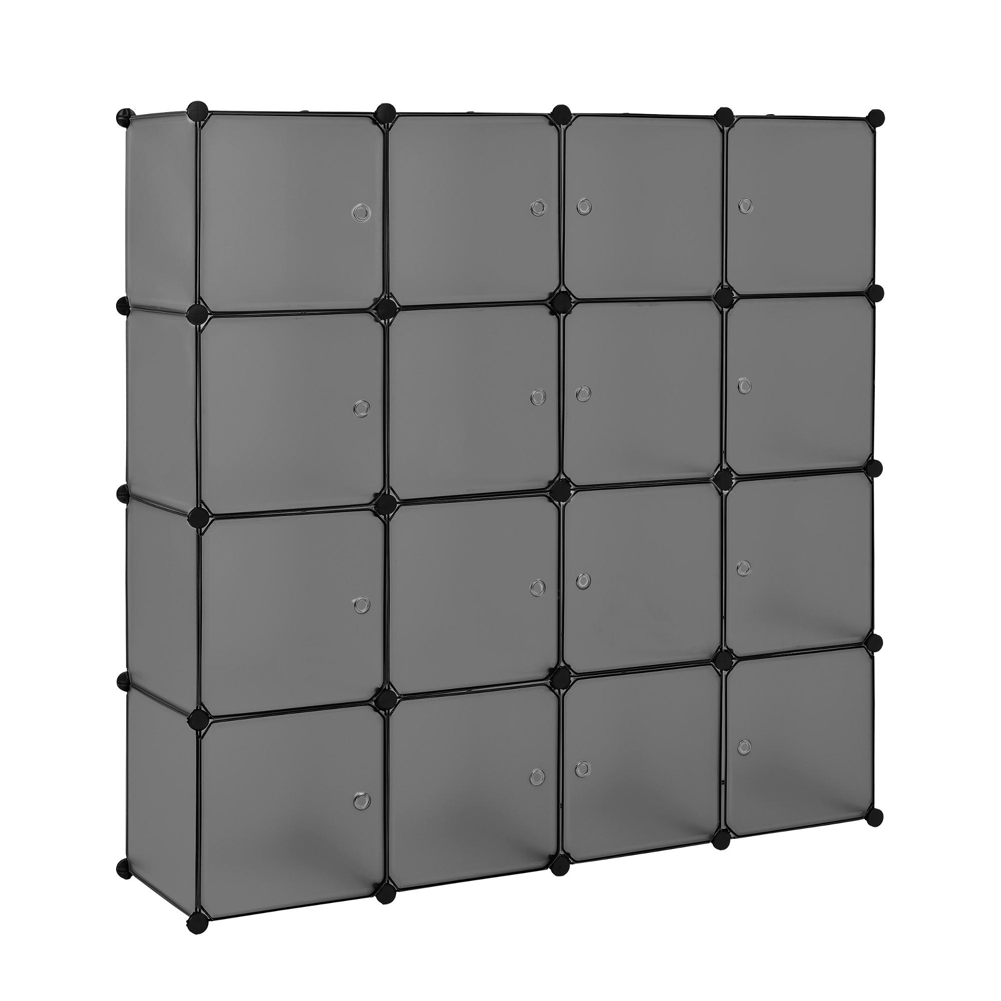 Diy Steckregal  [neu haus] Regalsystem DIY mit 16 Fächern schwarz