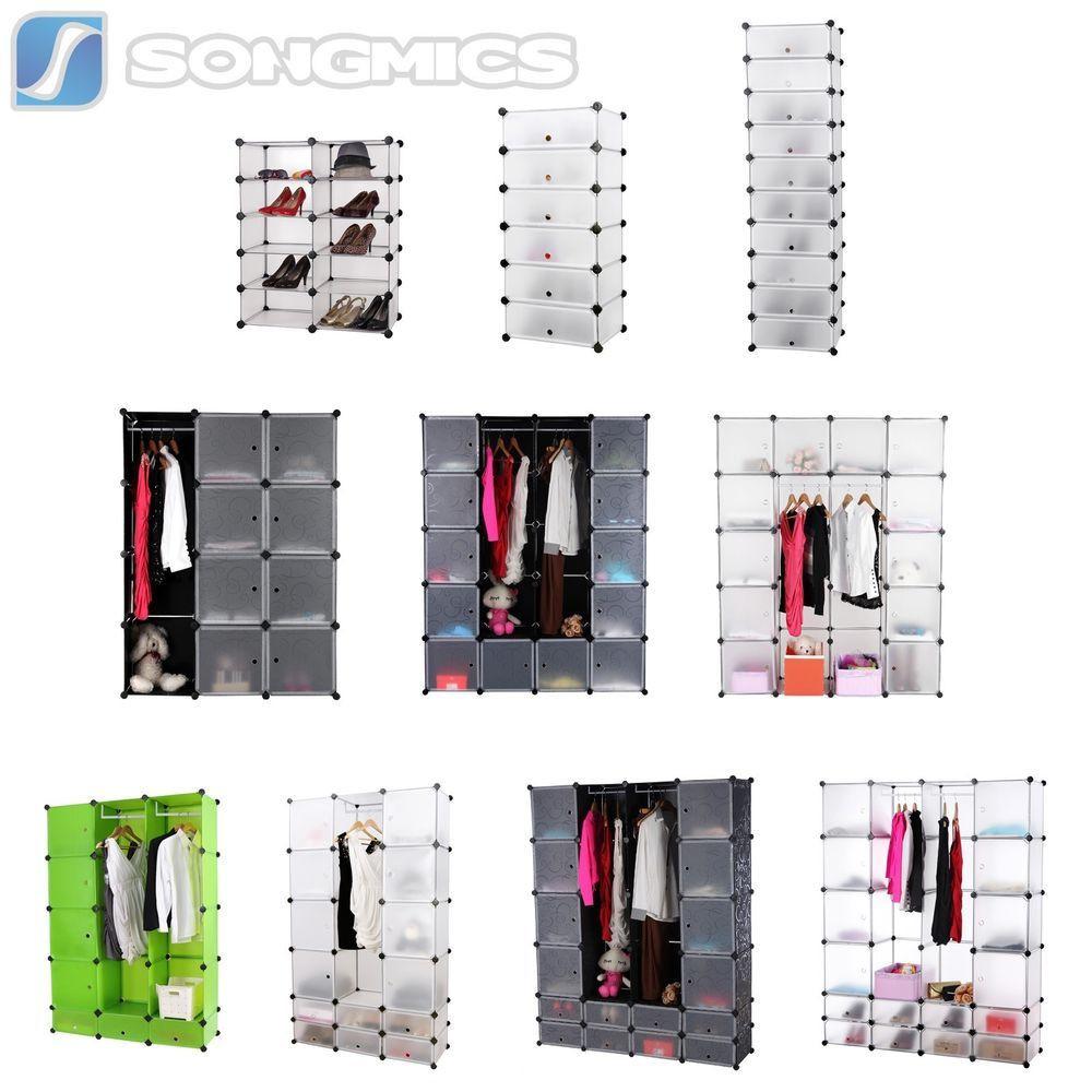 Diy Steckregal  DIY Steckregal Schrank Kleiderschrank Kunststoff Garderobe