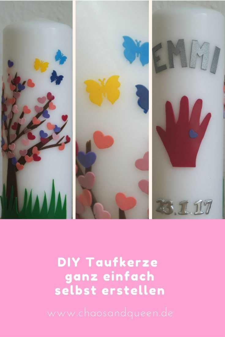 Diy Taufkerze  Die Taufkerze der Miniqueen DIY