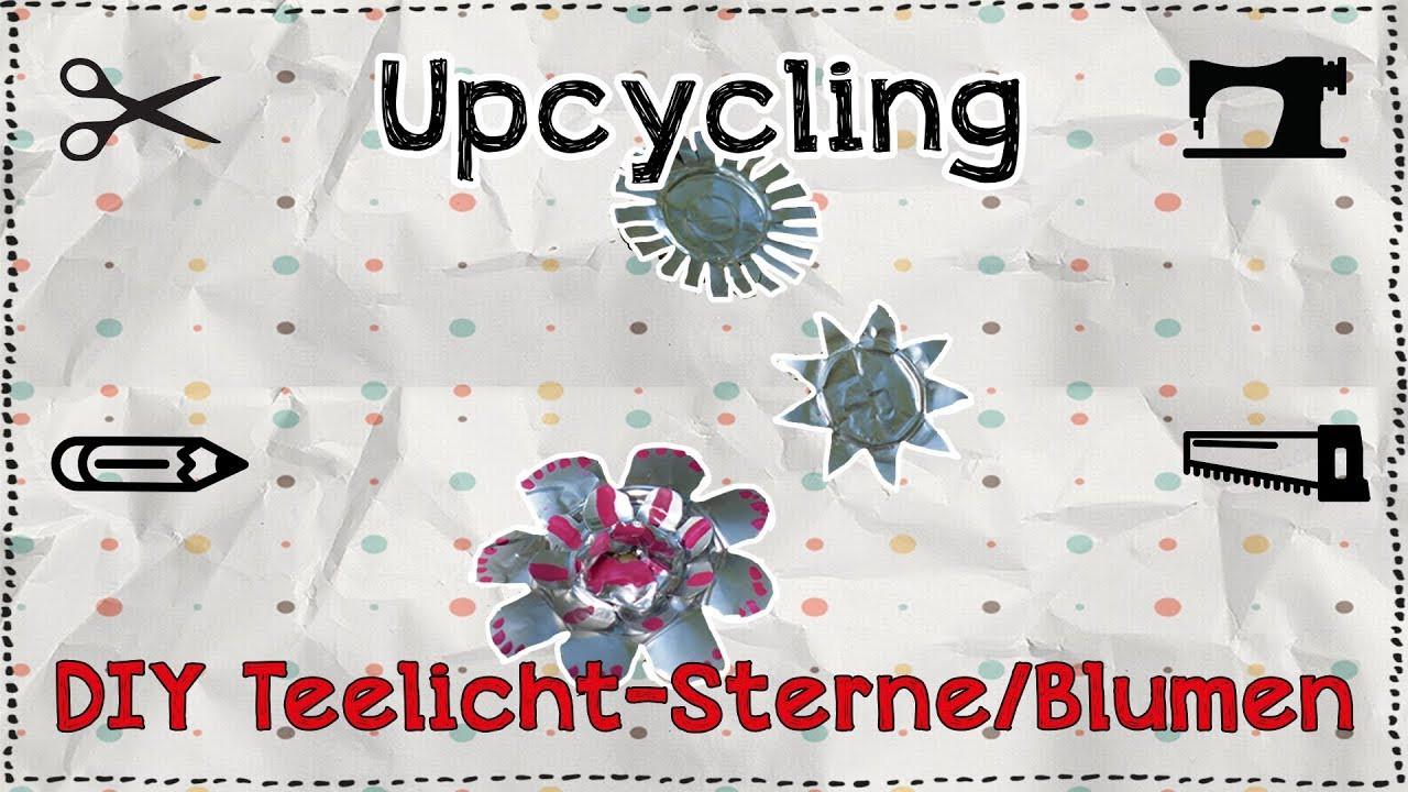 Diy Teelicht  DIY Upcycling Teelicht Sterne Blumen Tutorial