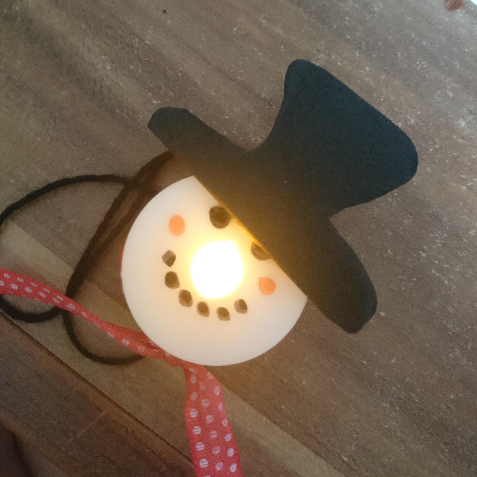 Diy Teelicht  Lucciola [DIY] LED Teelicht Schneemann