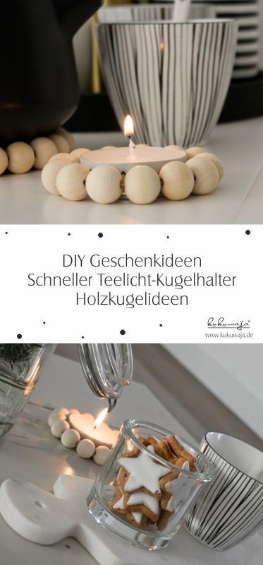 Diy Teelicht  scandiliebe by kukuwaja Schnelles Holzkugel DIY No 1