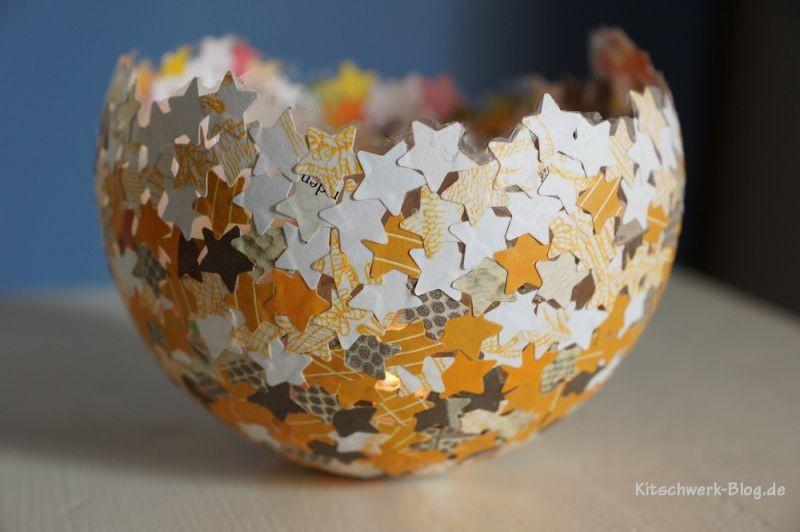 Diy Teelicht  DIY Konfettilichter Windlicht kitschwerk blog