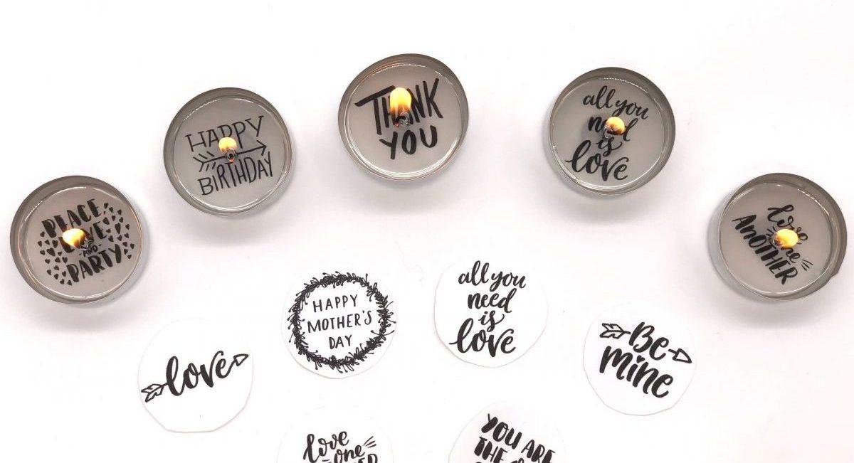 Diy Teelicht  Teelicht mit Botschaft selber machen kreative kleine
